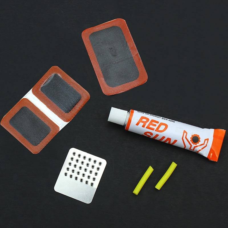 STKUSA Bicycle Tire Tyre Rubber Patches Glue Grinder Bicycle Tire Repair Tools Kit Set