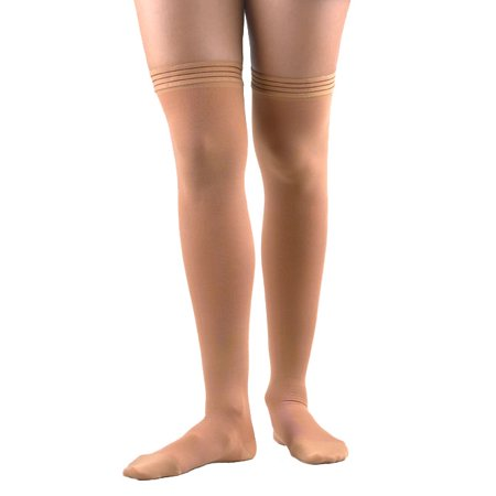 - FLA Activa Surgical Weight Grad Therapy Thigh Highs w/ Sili Band - 30-40 mmHg