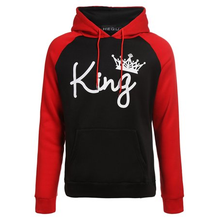 Fancyleo KING Printed Hooded Sweatshirt Fashion Couples Pullover