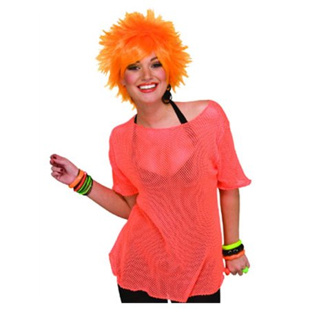 80s Rocker Chick (New Retro 80s Mens Womens Costume Mesh Rocker)