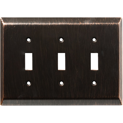 Franklin Brass Stately Triple Switch Wall Plate in Venetian Bronze