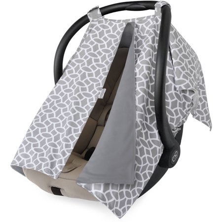 On the Goldbug Infant Car Seat Canopy Cover, Grey (Cheetah Baby Car Seat Covers)