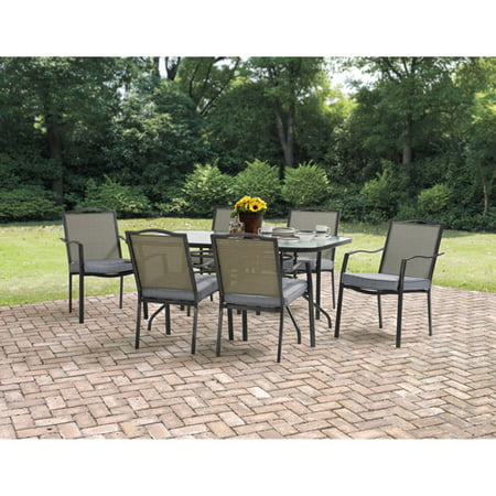 Mainstays Oakmont Meadows Patio Dining Set, Burlap ()