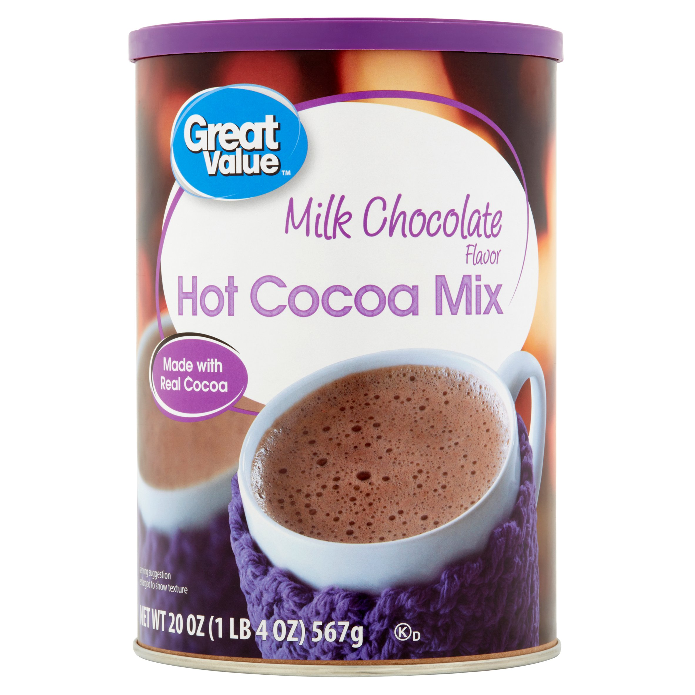 Great Value Milk Chocolate Hot Cocoa Mix, 20 oz