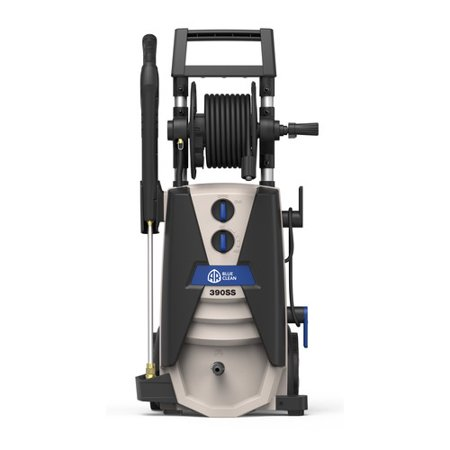 AR Blue Clean 2000 PSI Electric Pressure Washer, Spray Gun, Steel Lance with QC coupler, 30 Foot High-Pressure Hose, 35 Foot Power Cord, 48 oz Detergent Tank, Garden Hose adapter, AR390SS