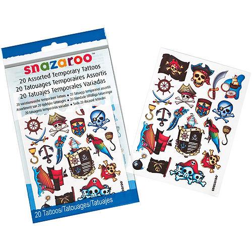 Snazaroo Temporary Tattoos 20/Pkg-Boys Adventure