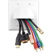 Vanco VAN-120621 Custom Two-Piece Bulk Cable Wall Plates - Dual