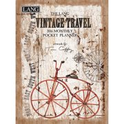 Tim Coffey Vintage Travel Monthly Planner with Pocket