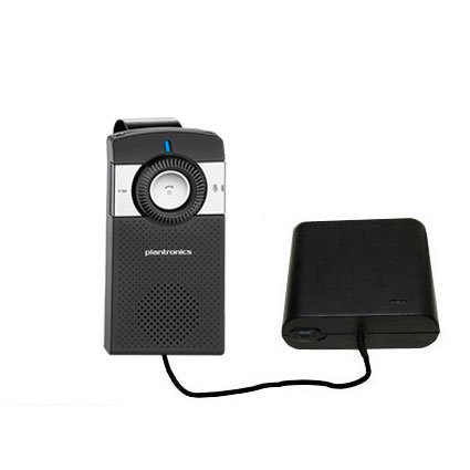 Hands Free Emergency Speakerphone - Portable Emergency AA Battery Charger Extender suitable for the Plantronics K100 In-Car Speakerphone - with Gomadic Brand TipExchange Technology
