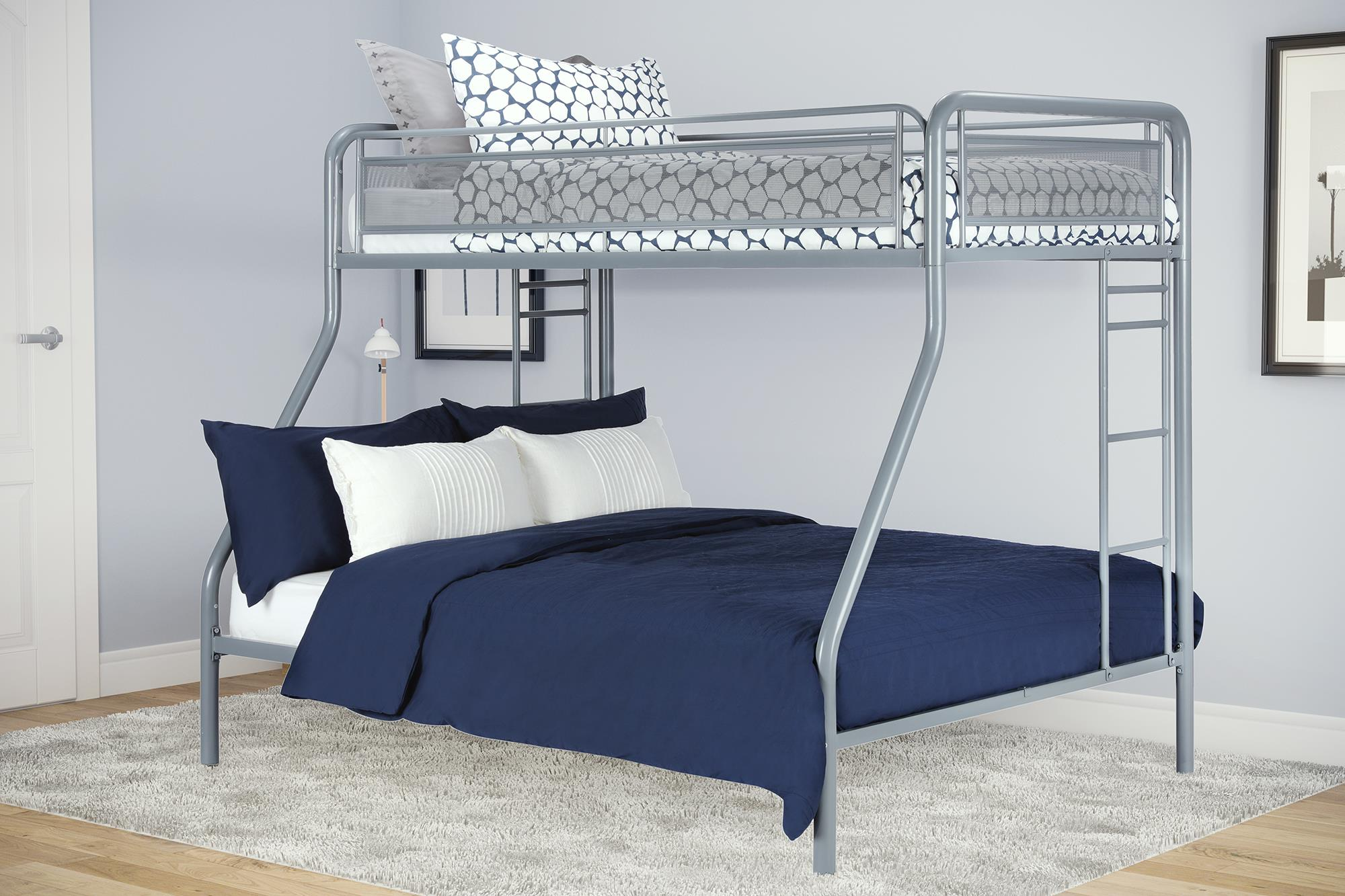 DHP Rockstar Twin Over Full Metal Bunk Bed, Multiple Colors by Dorel Home Products