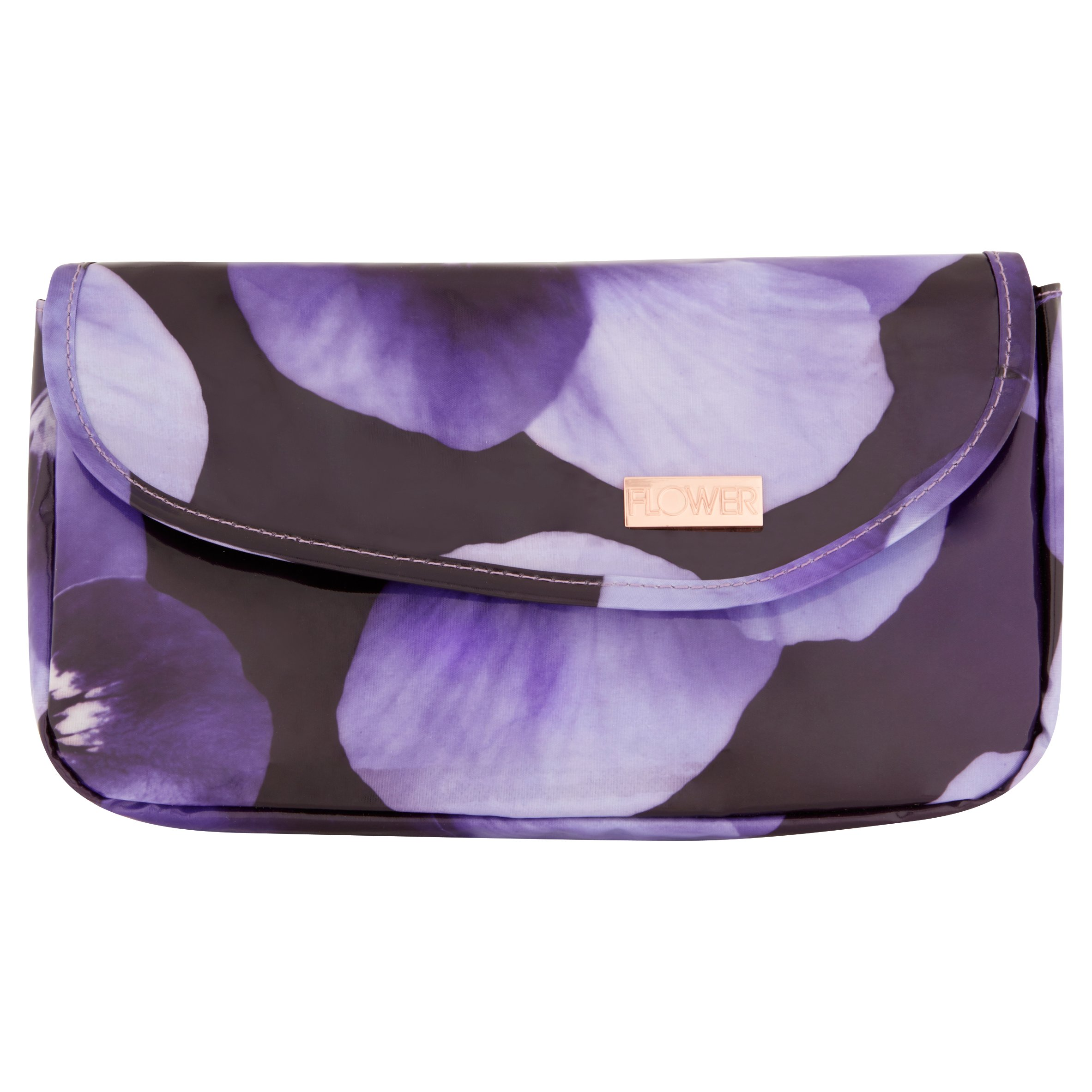 Flower Cosmetic Clutch with Mirror