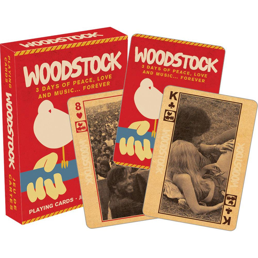 Woodstock Playing Cards,  Modern | Pop Art by NMR Calendars