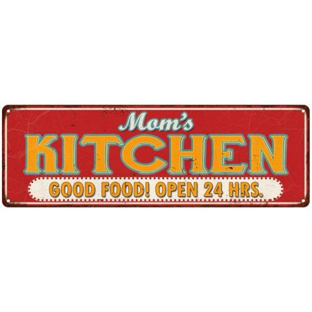Old Style Metal - Mom's Kitchen Retro Style Good Food Vintage Look Metal Sign 6x18 Old Advertising Man Cave Game Room M6180857