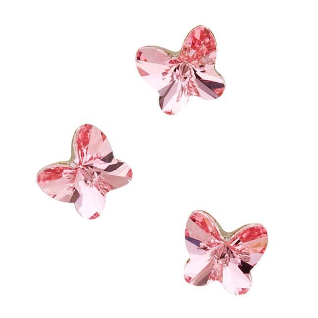 Swarovski Crystal, #4748 Rivoli Butterfly Rhinestones 5mm, 6 Pieces, Light Rose F