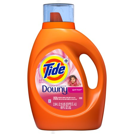 Tide April Fresh Scent Liquid Laundry Detergent with Downy 69 oz