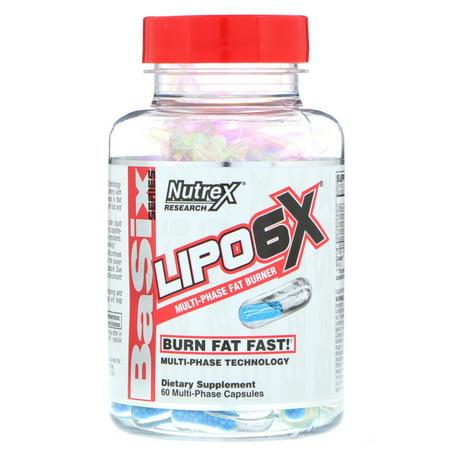 Nutrex Research Lipo-6X Multi-Phase Fat Burner 60 Capsules