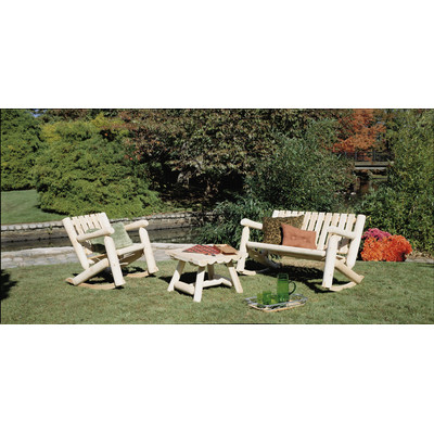 Bundle-89 Rustic Cedar Log Cedar Rocker Seating Group (4 Pieces)