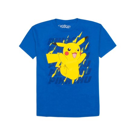 Pokemon Pikachu Crew Neck Tee Shirt (Little Boys)