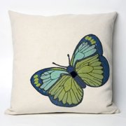 Liore Manne Butterfly Green Pillow Set