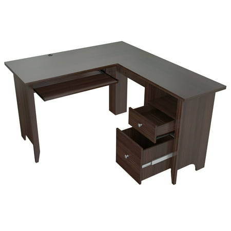 Inval Espresso Wengue L Shaped Computer Writing Desk ()