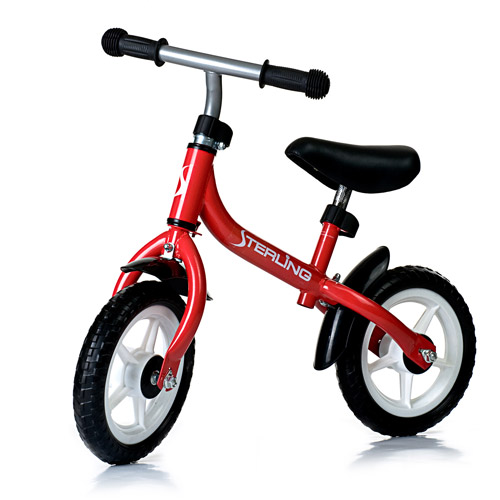 WonkaWoo Ride and Glide Mini-Cycle Balance Bike, Red