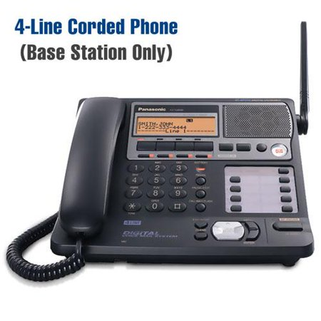 Panasonic KX-TG4500B 4 Line Corded Base Station Phone w  30 Min Digital Answering System by