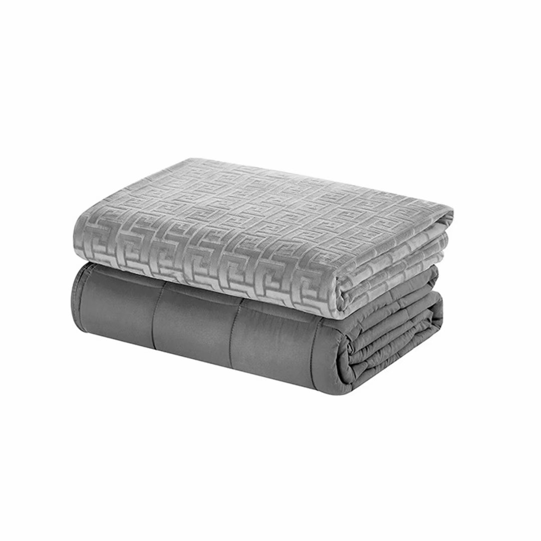 Anxiety Reduce Weighted Blanket 72'' x 48'' Coffee Twin Size 12lbs Reduce Stress