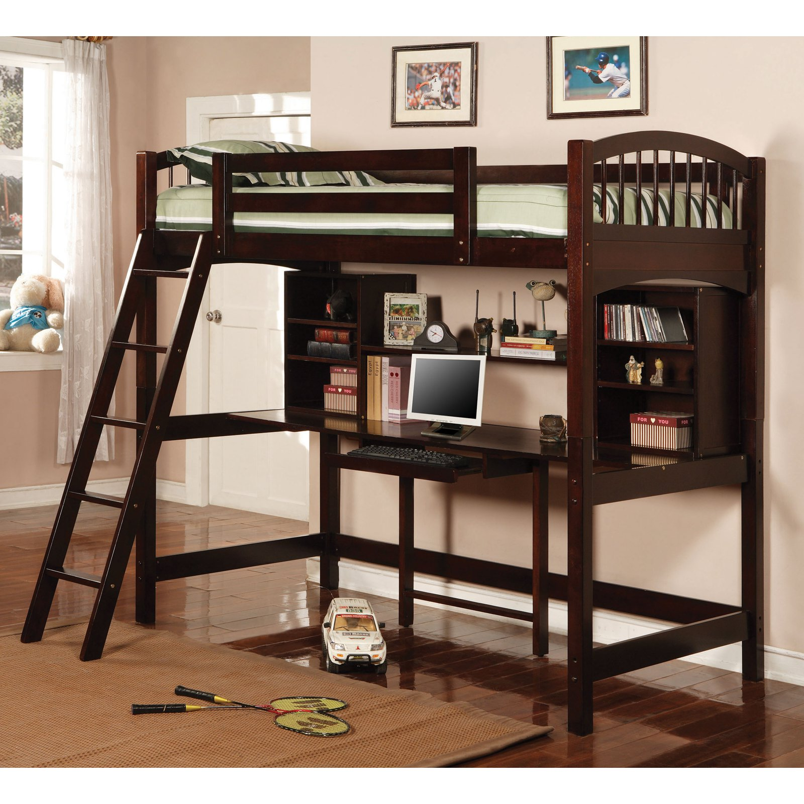 Coaster Furniture Bunks Casual Twin Workstation Loft Bunk - Cappuccino