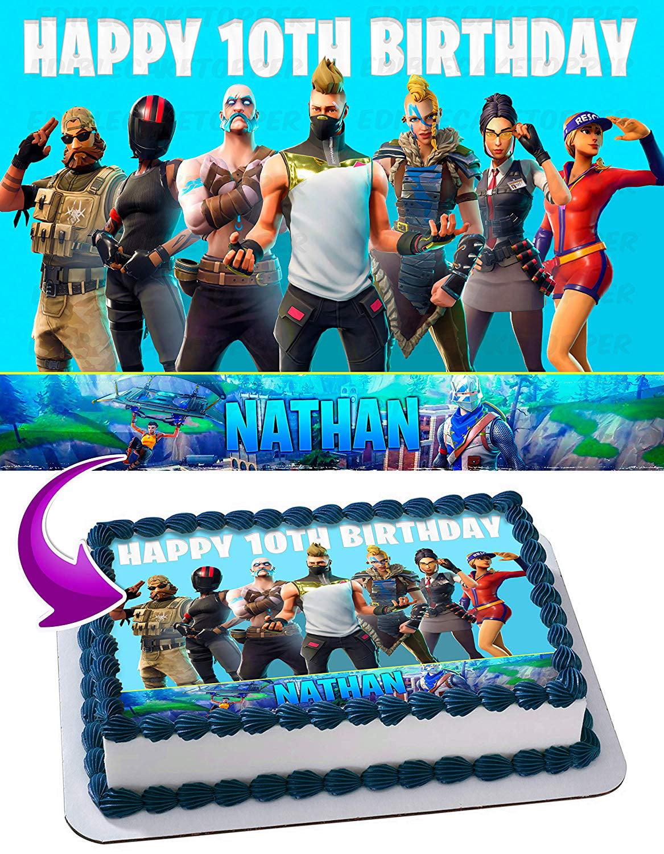 Fortnite Season 5 Battle Royal Edible Cake Image Topper ...