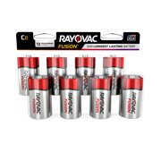 Best C Batteries - Rayovac FUSION Premium Alkaline, C Batteries, 8 Count Review