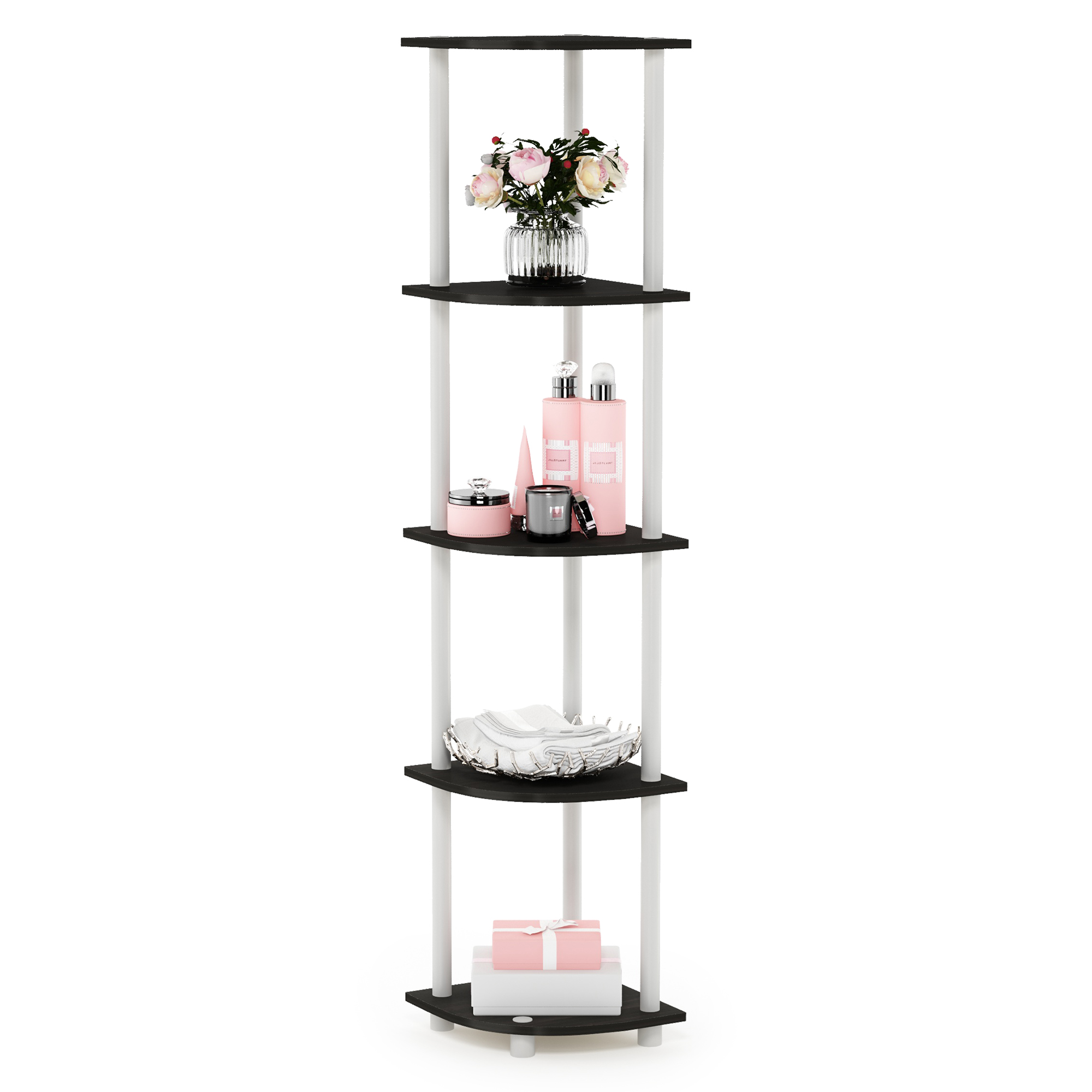 Furinno Turn-N-Tube 5 Tier Corner Display Rack Shelving Unit