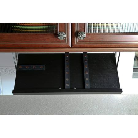 Drop Block Under Cabinet Knife Storage Rack - Large, Black (Rack Blocks)