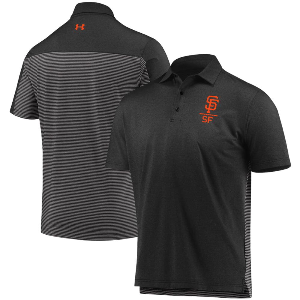 San Francisco Giants Under Armour Novelty Performance Polo - Black/Gray