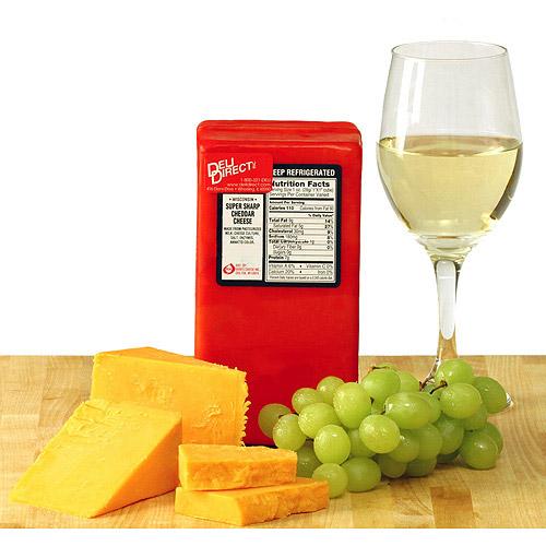 Deli Direct Super Sharp Cheddar Cheese, 2 lb. 2 count