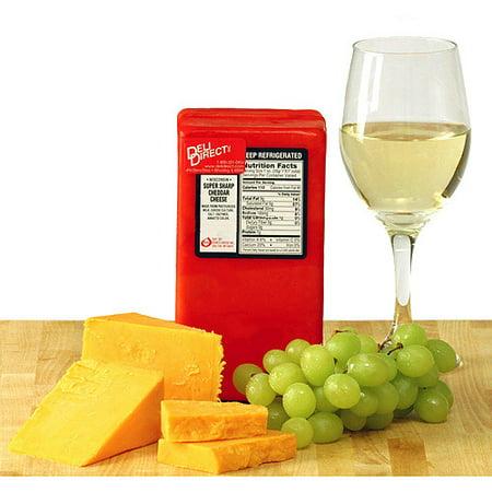 Deli Direct Super Sharp Cheddar Cheese, 2 lb. 2