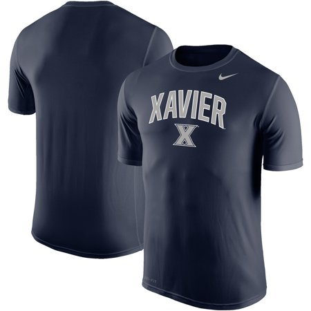 Xavier Musketeers Nike Arch Over Logo Performance T-Shirt - Navy