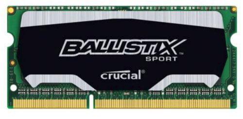 Crucial 4gb, Ballistix 204-pin Sodimm, Ddr3 Pc3-14900 Memory Module - 4 Gb [1 X 4 Gb] - Ddr3 Sdram - 1866 Mhz Ddr3-1866/pc3-14900 - 1.35 V - Non-ecc - Unbuffered - 204-pin - Sodimm (bls4g3n18aes4)