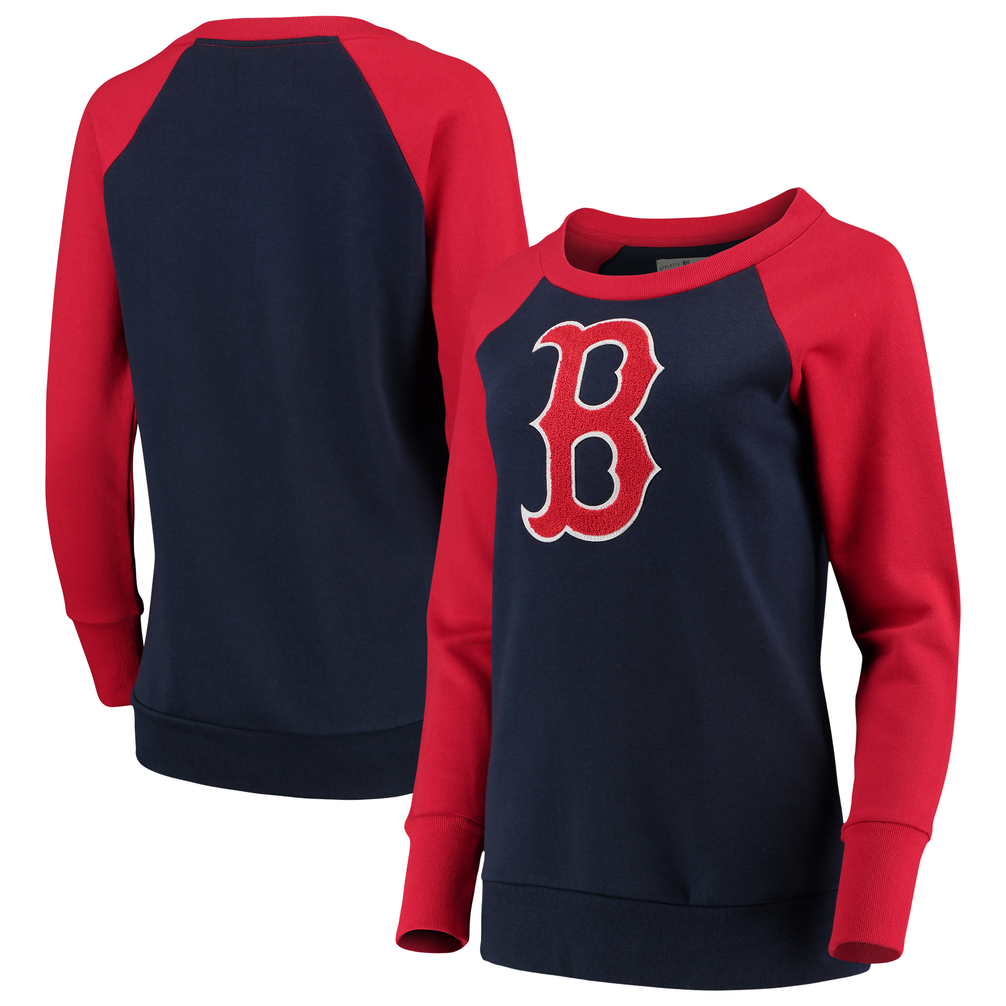 Boston Red Sox G-III 4Her by Carl Banks Women's Top Ranking Tunic Raglan Crew Sweatshirt - Navy