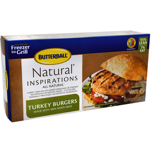 Frozen Butterball Turkey Burgers, 8ct