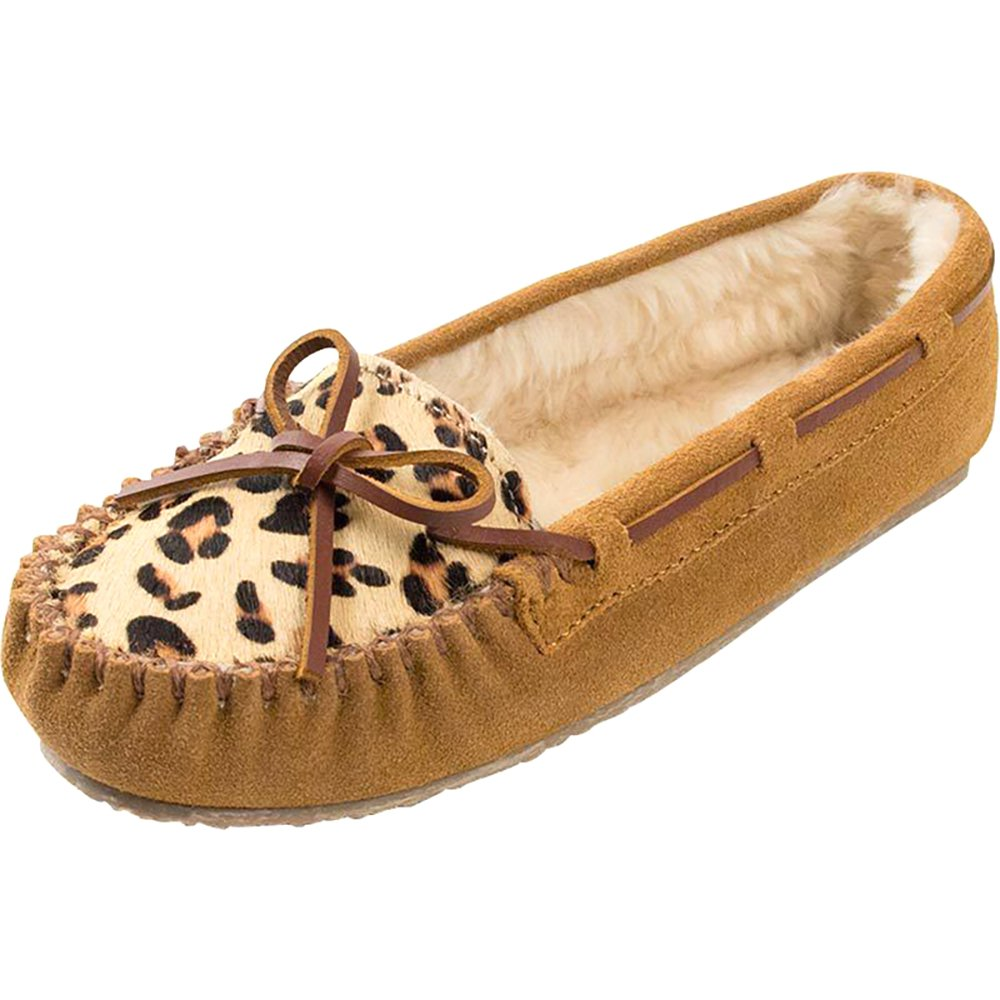Minnetonka Womens Cinnamon Leopard Cally Mocs by MINNETONKA