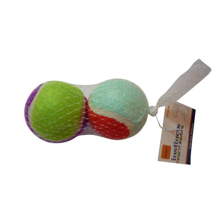 (4 Pack) Instincts Interact Fetch Balls Dog Toy, Multicolor, 2 Ct Dog Rubber Fetch Toy