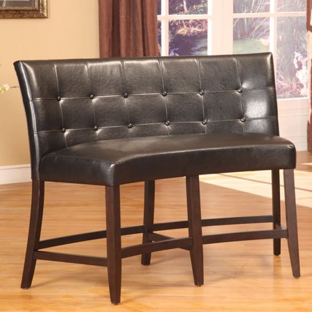 Bossa Counter Height Banquette - Black Leatherette - Walmart.com on