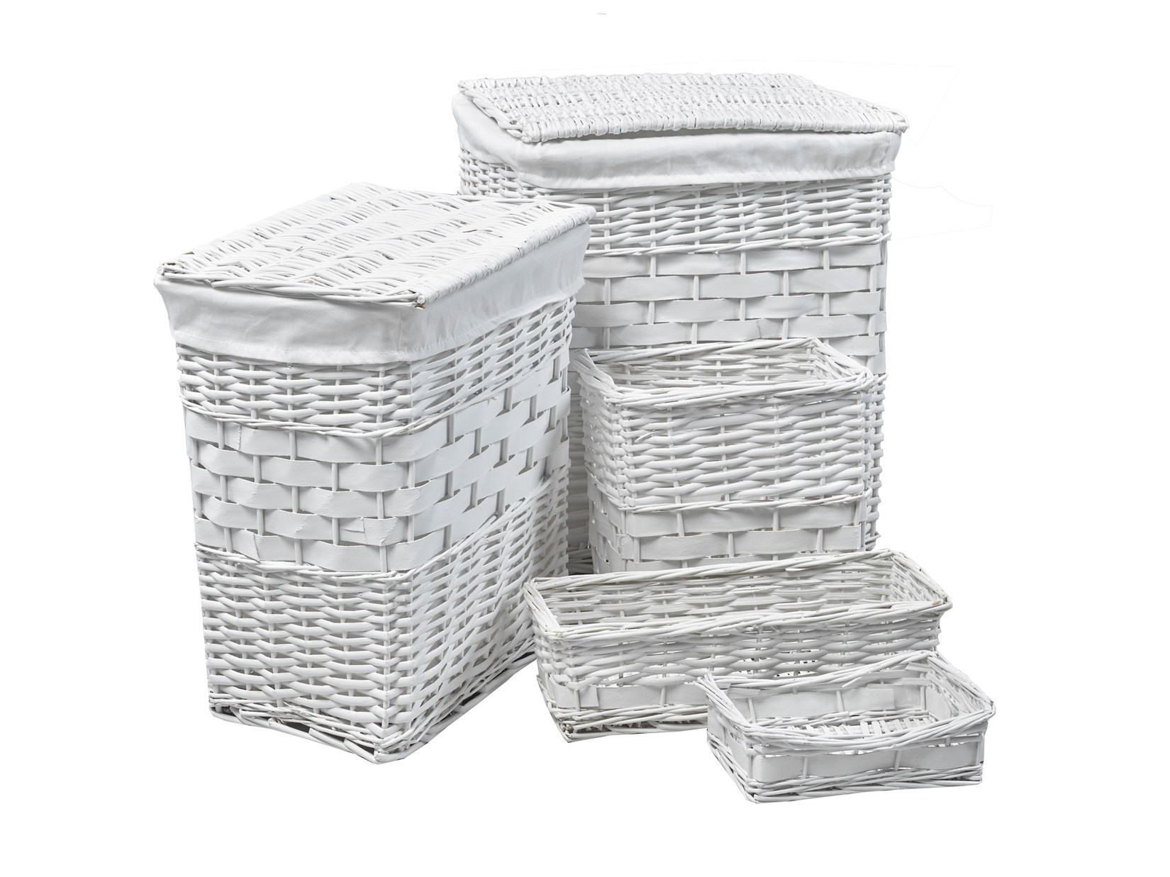 ViscoLogic Willow Wicker Basket Set of 5 Pieces by ViscoLogic