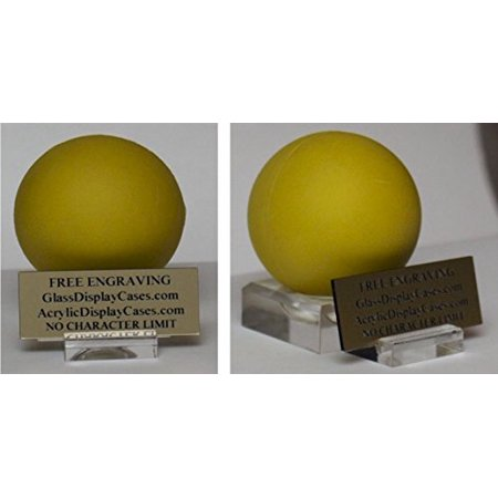 Lacrosse Ball Personalized Game Ball Award Clear Display Stand with Custom Nameplate Holder - Free No Limit Engraved Name (Free Nameplate)