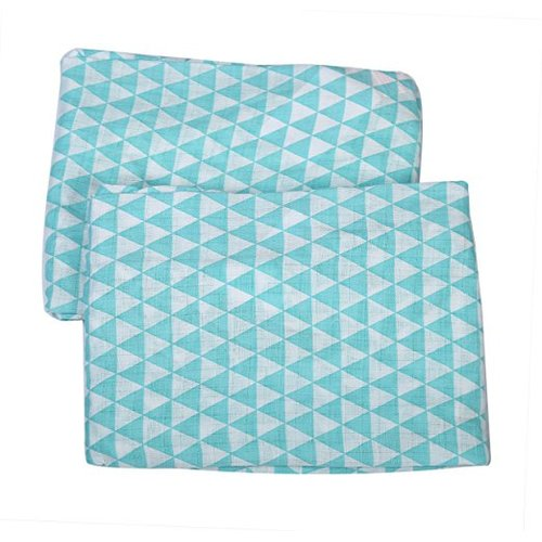 Bacati Liam Aztec Triangles Muslin Fitted Crib Sheets (Set of 2)