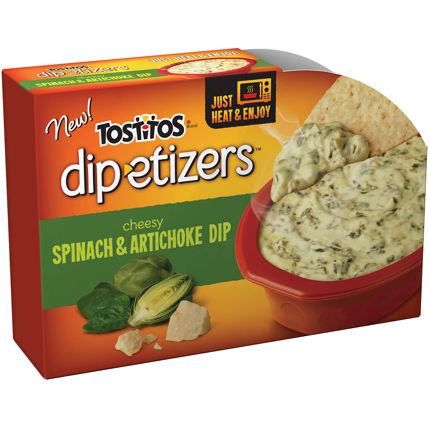 Tostitos Dip-etizers Cheesy Spinach & Artichoke Dip, 10 oz.