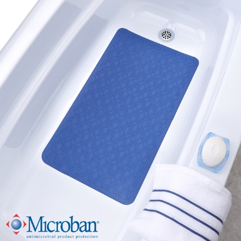 SlipX Solutions Mildew Resistant Large Rubber Bath Safety Mat