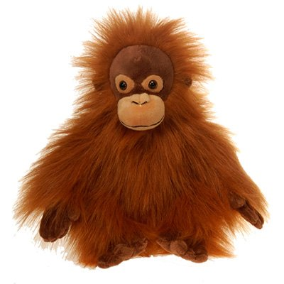 Brown Orangutan Plush Stuffed Animal Toy - 10 inches, Made from Soft Materials By Fiesta Toys
