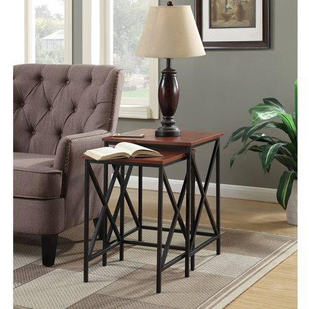 Art Deco Nesting Tables - Convenience Concepts Tucson Nesting End Tables, Multiple Colors