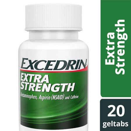 Excedrin Extra Strength Geltabs for Headache Relief, 20
